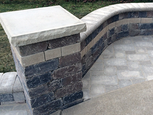 curved paver detail